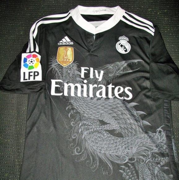separation shoes 46b91 3e8b7 Ronaldo real Madrid Jersey rare black dragon
